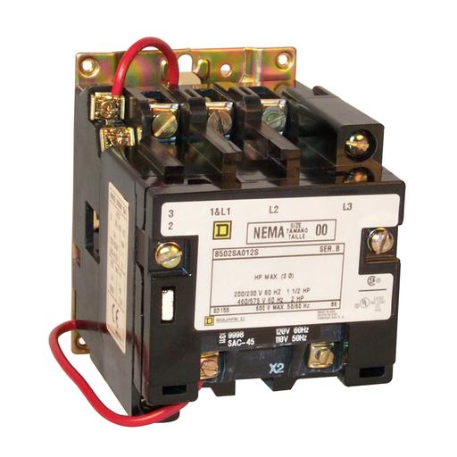 SQD 8502SAO12V02S CONTACTOR 600VAC
