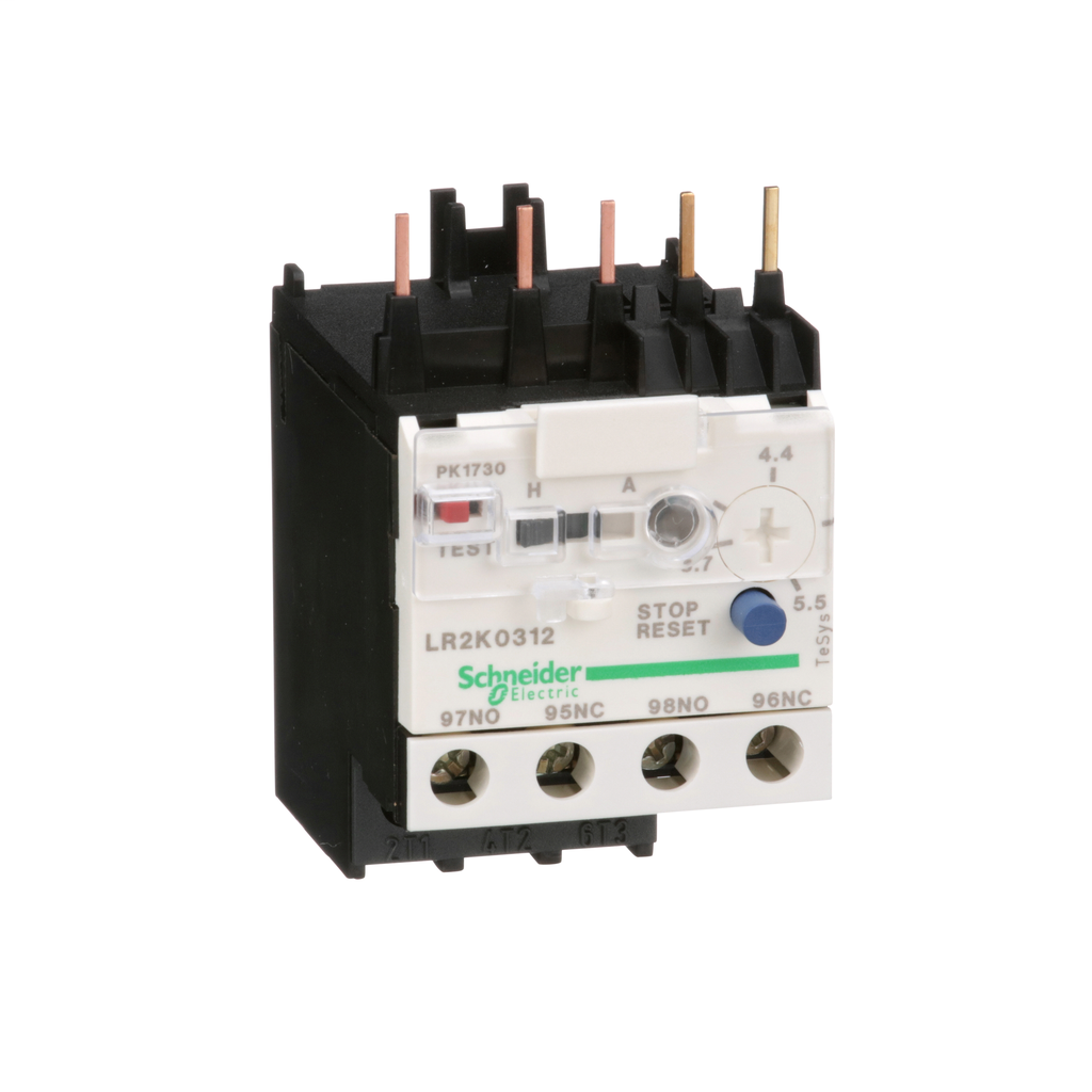 TeSys K, differential thermal overload relay, 3.7 to 5.5 A, class 10A