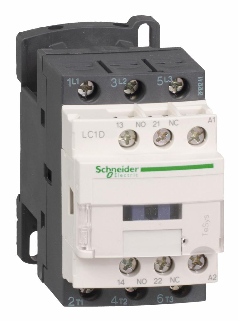 TeSys D IEC contactor, 18 A, 3 P, 10 HP at 480 VAC, nonreversing, 120 VAC 50/60 Hz coil