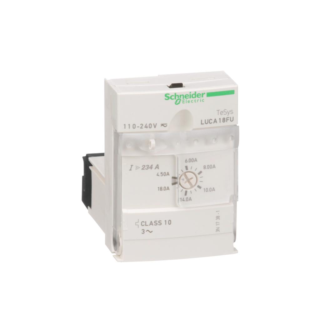 TeSys U, standard control unit, class 10, 4.5 to 18 A, 110 to 220 V DC/AC