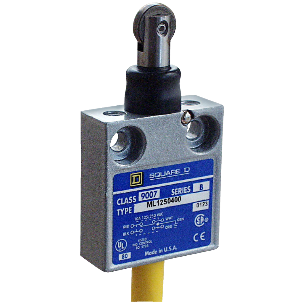 Limit switch head, 9007C, rotary lever arm, standard pretravel, spring return, clockwise only operation, NEMA 4 and 13