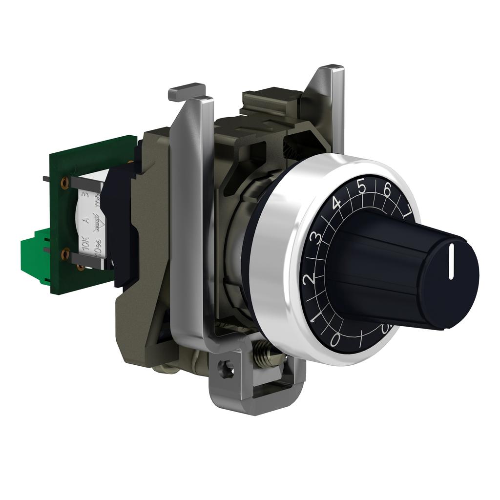 Head Ø22 + mounting base + potentiometer 10K