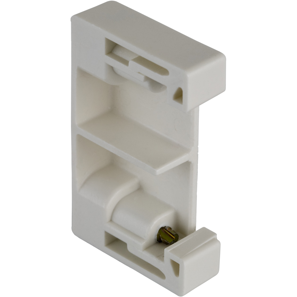 Terminal Block, screw end clamp, for 35 mm DIN rail track