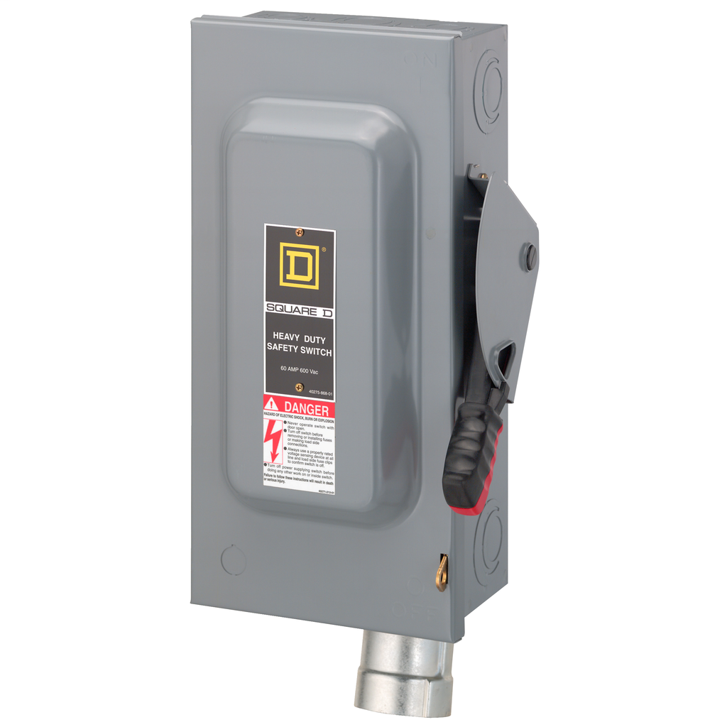 SW FUSIBLE HD 60A/HUBBELLOCK RECEPTACLE