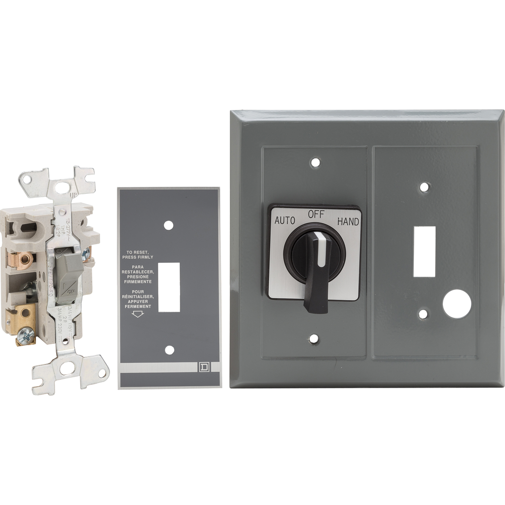 Duplex Manual Starter-Flush - 1P Starter-Toggle-1 Selector-No Indicator-277VAC