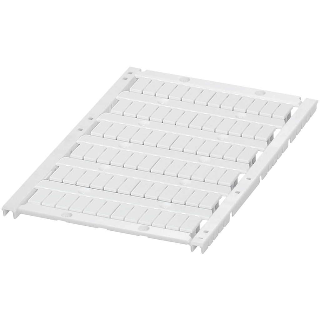 MARKING CARD WITH 6 STRIPS, 5MM, UNPRINTED, 72 CHARACTERS, WHITE