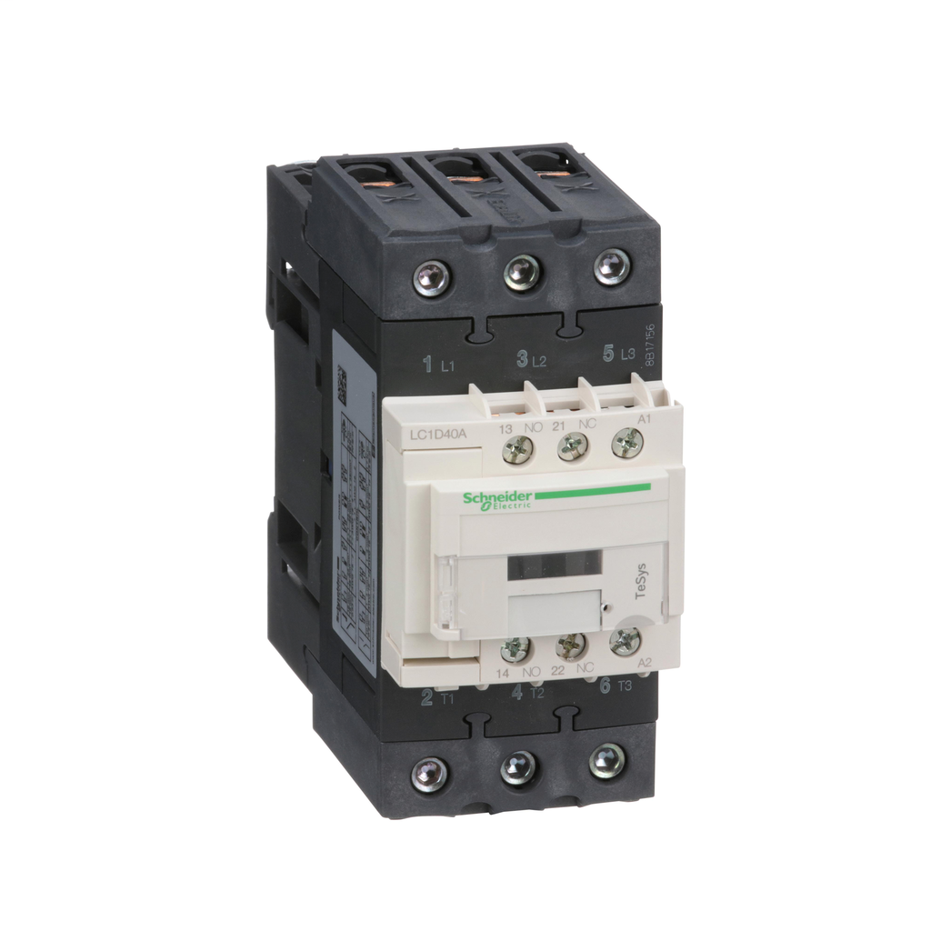 18 Amp at 440 VAC and 32 Amp at 440 VAC 120 Coil VAC at 50//60 Hz Nonreversible IEC Contactor 3 Pole