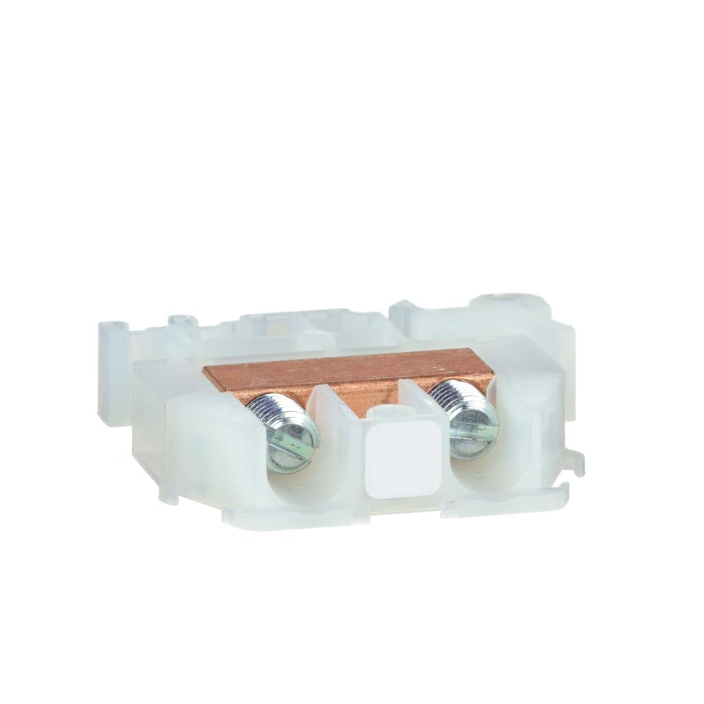 SQUARE D Terminal Block, box lug connector, 60 A, 600 VAC/DC, natural colored block
