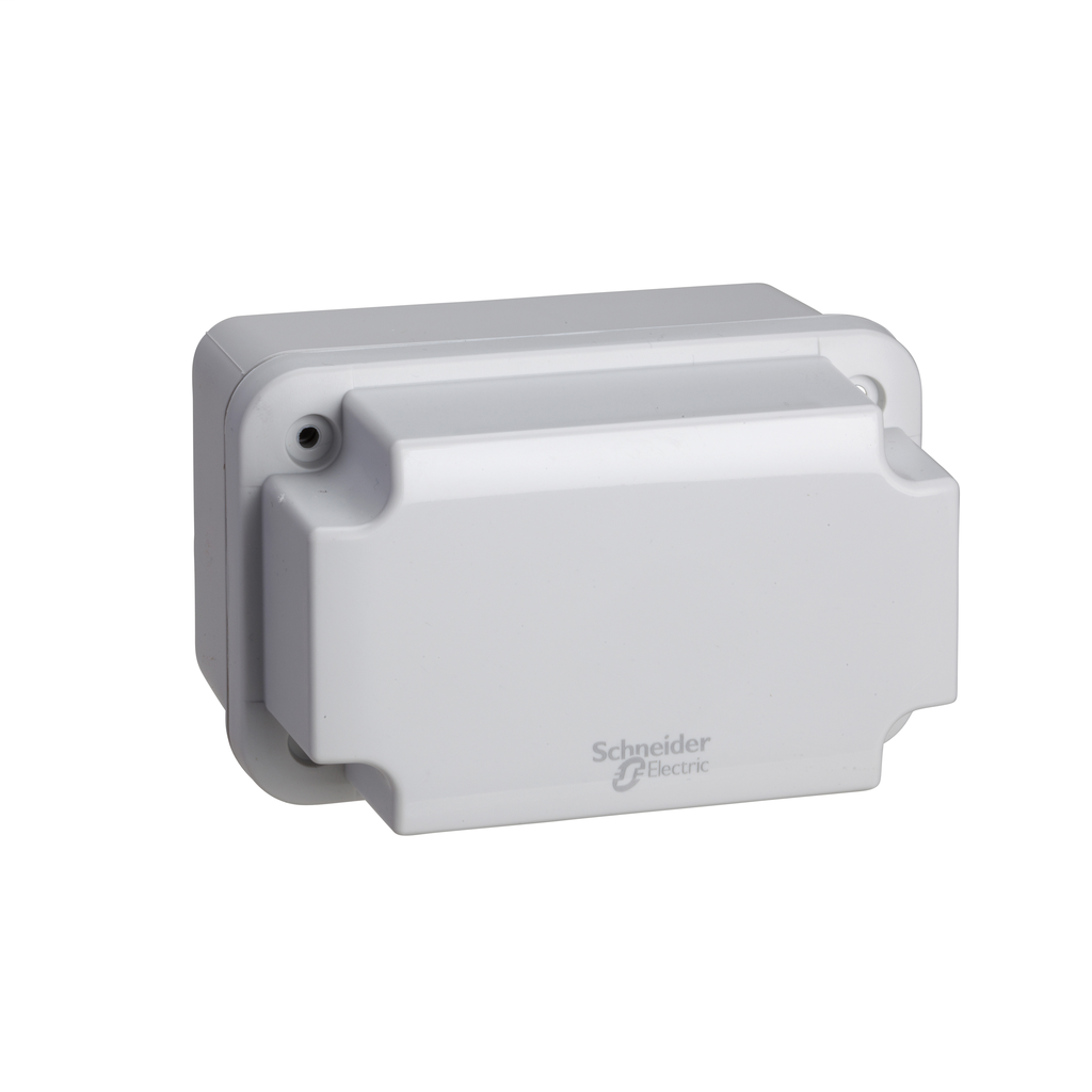SCHNEIDER ELECTRIC ABS box IP66 IK07 RAL7035 Int.H105W65D85 Ext.H117W74D94 Opaque cover H40