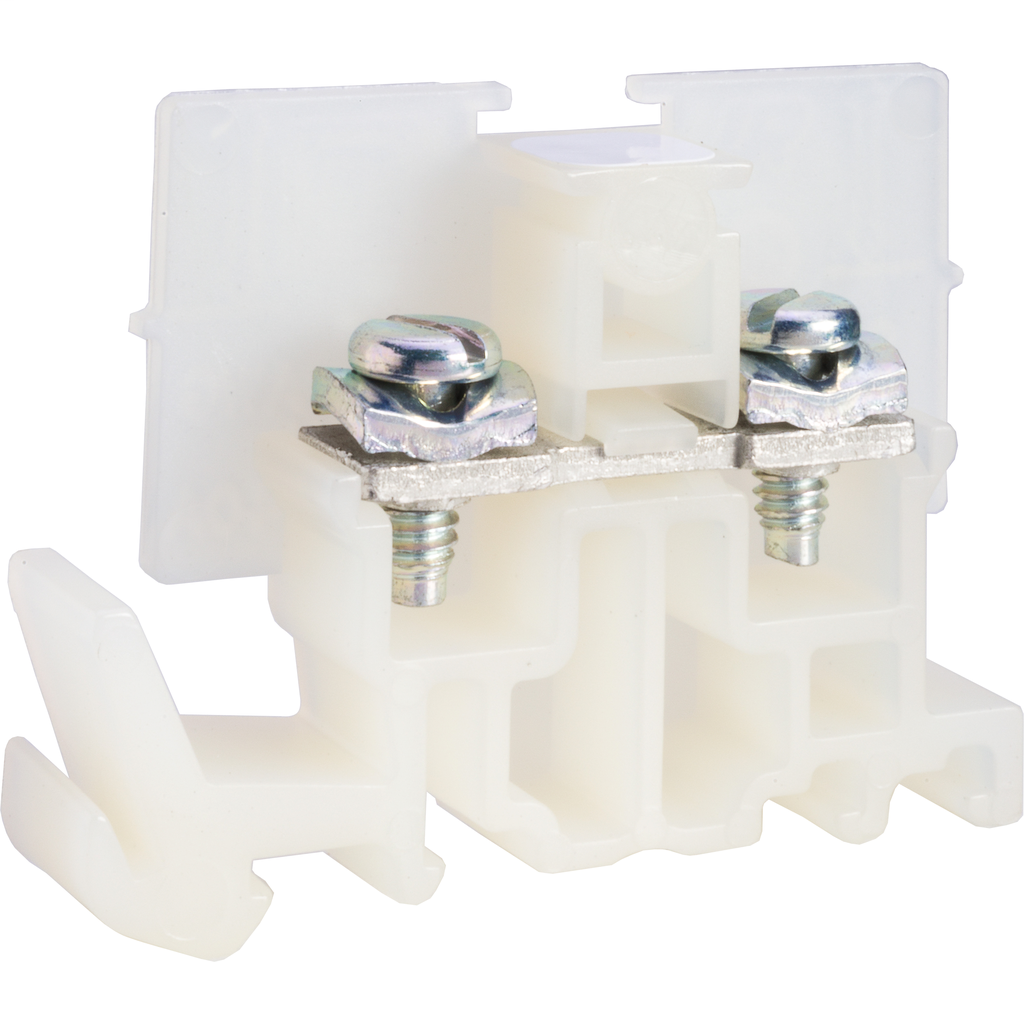 SQUARE D Linergy terminal block, pressure wire connector, natural colored block, 40 Amp, 600 VAC / VDC