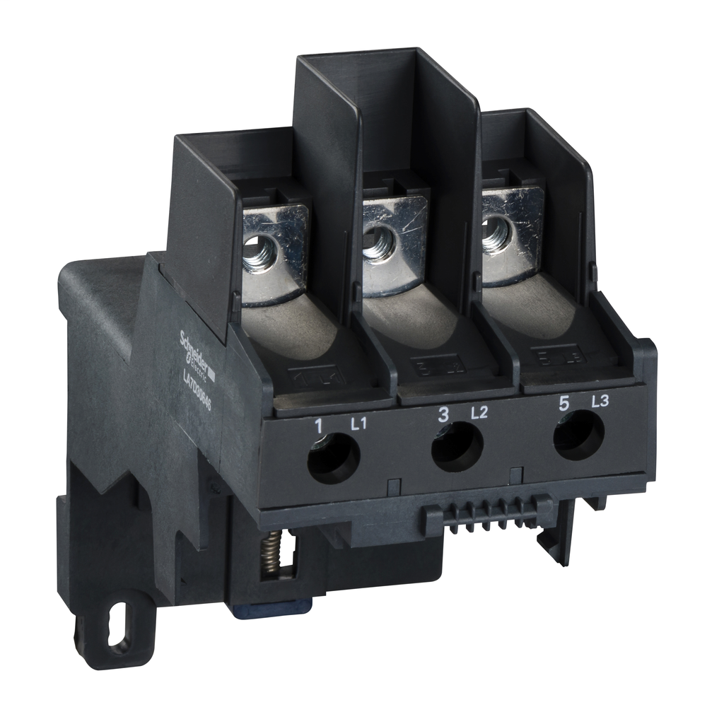 SCHNEIDER ELECTRIC Adapter terminal block, TeSys LRD, for separate mounting of LR2D3… LR3D3…, lugs connection