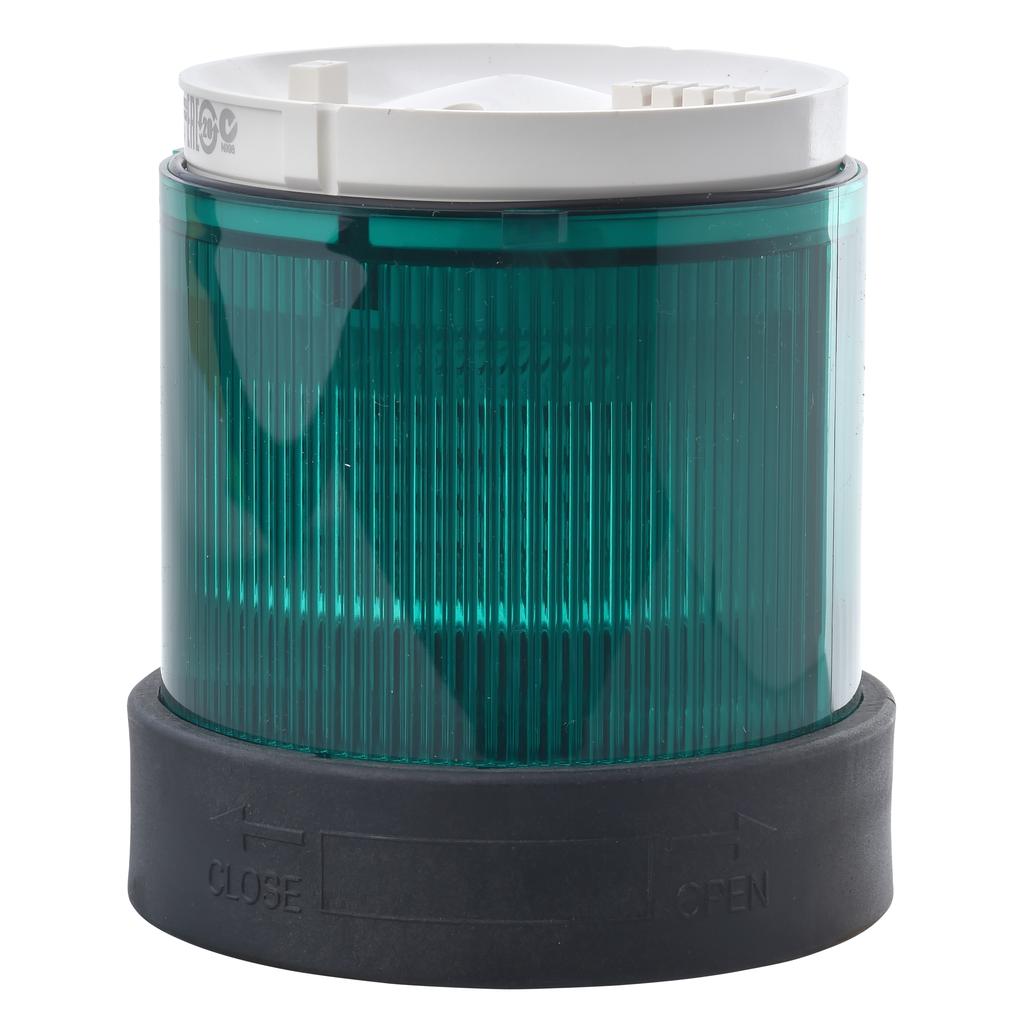 Square D XVBC4M3 70 mm 230 VAC 15 mA 10 W Green Polycarbonate Flash LED Beacon Lens Unit