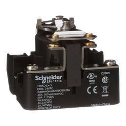 199ADBX-3 - Power relay, Legacy, SPST-DB, 40A, 24 VAC, magnetic blowout