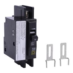 QOU1101200 - QOU Miniature Circuit Breaker, 10A, 1P, 120/240V, 10kA, Aux Switch