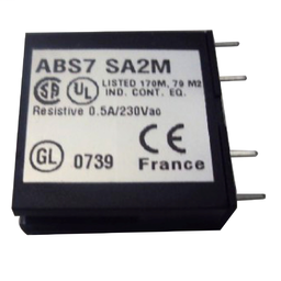 ABS7SA2M - Plug-in solid state relay – 10 mm – output – 24..240 V AC – 0.5 A