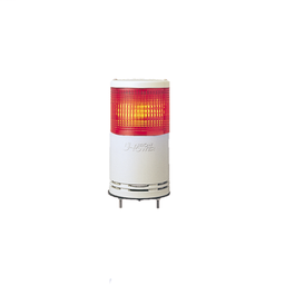 XVC1B1K - Monolithic tower light, red, 100mm, base mounting, steady or flashing, without buzzer, IP54, 24 V DC