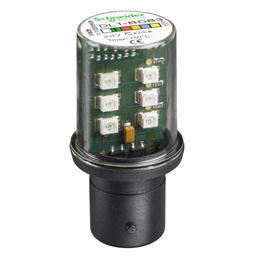 DL1BDB3 - Protected LED bulb, BA 15d, green, steady light, 24 V AC/DC