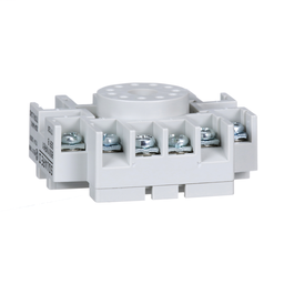 8501NR61 - Plug in relay, Type N, relay socket, 11 tubular pin, single tier, for 8510KP relays and 9050JCK timers