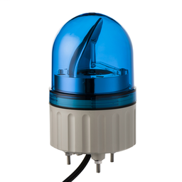 XVR08B06 - Rotating beacon, 84 mm, blue, without buzzer, 24 V AC DC
