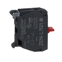 ZENL1121 - Harmony, 22mm Push Button, contact block, panel mount, 1 NC, screw clamp terminal
