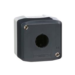 XALD01H7 - Harmony, enclosure, dark grey lid with light grey base, 1 opening, UL/CSA certified