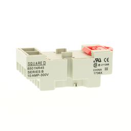 8501NR45B - Plug in relay, Type N, relay socket, 14 blade, for 8510R relays, bulk packaged