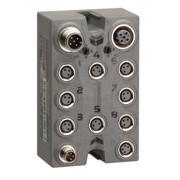 TM7NCOM08B - CANopen interface block – IP67 – 8 I/O – M8