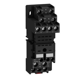RXZE2M114 - Zelio, plugin relay socket, mixed contact, 10 A, 250 V, screw clamp, for RXM2 or RXM4 relays
