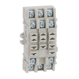 8501NR82B - Plug in relay, Type N, relay socket, 11 blade, double tier, for 8510KU relays, bulk packaged