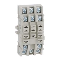 8501NR82B - Plug in relay, Type N, relay socket, 11 blade, double tier, for 8510KU relays, bulk packaged