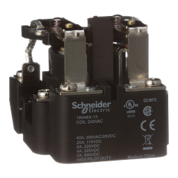 199ABX-15 - Power relay, Legacy, DPDT, 40A, 240 VAC, magnetic blowout, open type