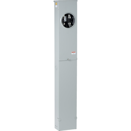1006388 - Meter socket, 200 A, 600 V, 1 PH, ringless, 4 jaws w/o release, no bypass, NEMA 3R, steel