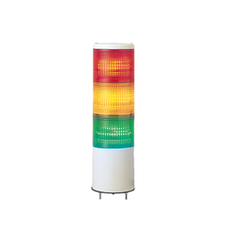 XVCTL1 - Monolithic tower light, red-orange-green, 40mm, base mounting, steady or flashing, with buzzer 70…85 dB, IP23, 24 V AC DC