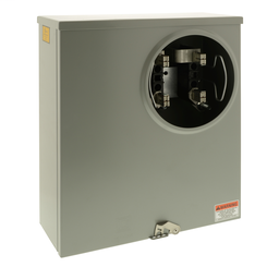 UTRS220A - Individual meter socket, ringless socket, no bypass, 4 jaws no release, UG, 200 A, up to 600 VAC single phase 3W