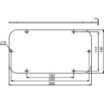 NSYTLCU - Aluminium for Spacial S3D encl. L245xW130.