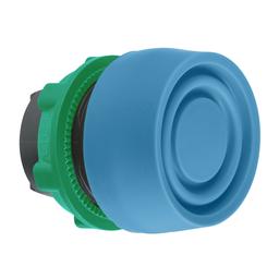 ZB5AP6S - Blue flush pushbutton head Ø22 spring return unmarked