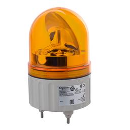 XVR08B05 - Rotating beacon, 84 mm, orange, without buzzer, 24 V AC DC