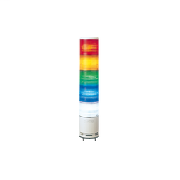 XVC1B5SK - Monolithic tower light, red-orange-green-blue-clear, 100mm, base mounting, steady or flashing, with buzzer 60…85 dB, IP54, 24 V DC