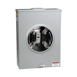 1004159A - Meter socket, 200 A, 600 V, 1 PH, ringless, 4 jaws w/o release, horn, NEMA 3R, steel