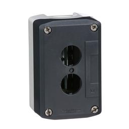 XALD02H7 - Harmony, enclosure, dark grey lid with light grey base, 2 openings, UL/CSA certified
