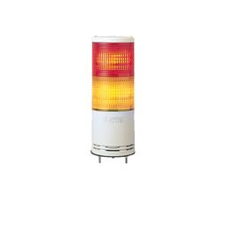 XVC1B2K - Monolithic tower light, red-orange, 100mm, base mounting, steady or flashing, without buzzer, IP54, 24 V DC