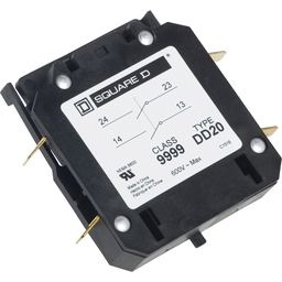 9999DD20 - Contactor, Definite Purpose, auxiliary contact, 3A at 120 VAC, 2 NO contacts, for 20A to 40A DPA contactors