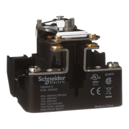 199ADX-5 - Power relay, Legacy, SPST-NO-DM, 40A, 240 VAC, open type