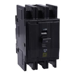 QOUR3605283 - QOUR Miniature Circuit Breaker, 60A, 3P, 240V, 10kA, Ring Terminal