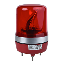 XVR10B04 - Rotating beacon, 106 mm, red, without buzzer, 24 V AC DC