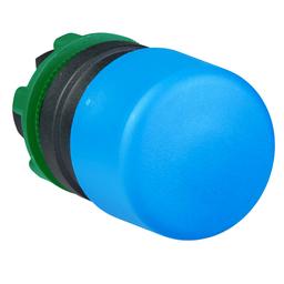 ZB5AC64 - Blue Ø30 mushroom pushbutton head Ø22 spring return