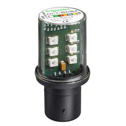 DL1BDB4 - Protected LED bulb, BA 15d, red, steady light, 24 V AC/DC