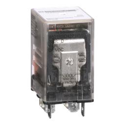 8501RSD42P14V53 - Plug in relay, Type R, miniature, 1 HP at 277 VAC, 15A resistive at 120 VAC, 8 blade, DPDT, 2 NO, 2 NC, 24 VDC coil