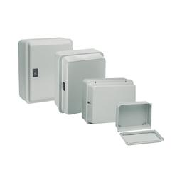 NSYDBN88 - Metal industrial box – low plain cover – H85xW85xD49 – IP55 – grey RAL 7035
