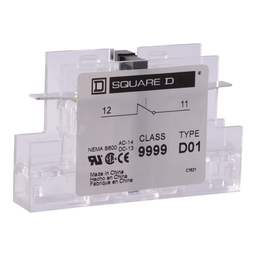 9999D20 - Contactor, Definite Purpose, auxiliary contact, 3A at 120 VAC, 2 NO contacts, for 50A to 90A DPA contactors